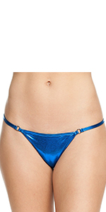 Shiny blue solid color basic cute bikini for girls women ladies beach pole dance exotic dancer