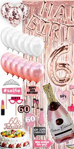 60th Birthday Decorations for Women 60th Birthday Party Supplies 60th Birthday Gifts for Women 1960