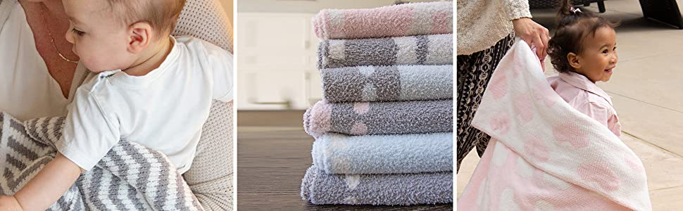 Living Textiles Chenille Baby Blanket Lifestyle