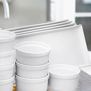 Rectangular Porcelain Platters, Serving Trays for Parties