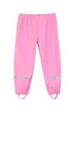 pink rain pant