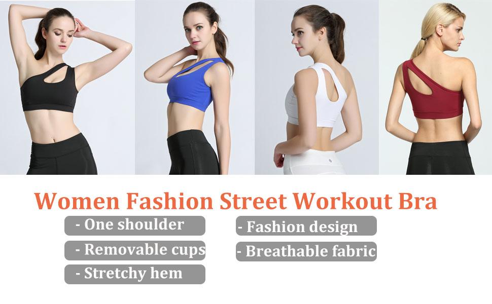 Women Fashion Street Workout Bra gym top sport bra