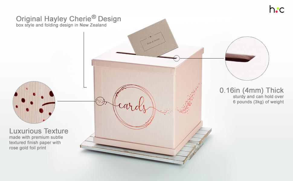 hayley cherie wedding gift card box