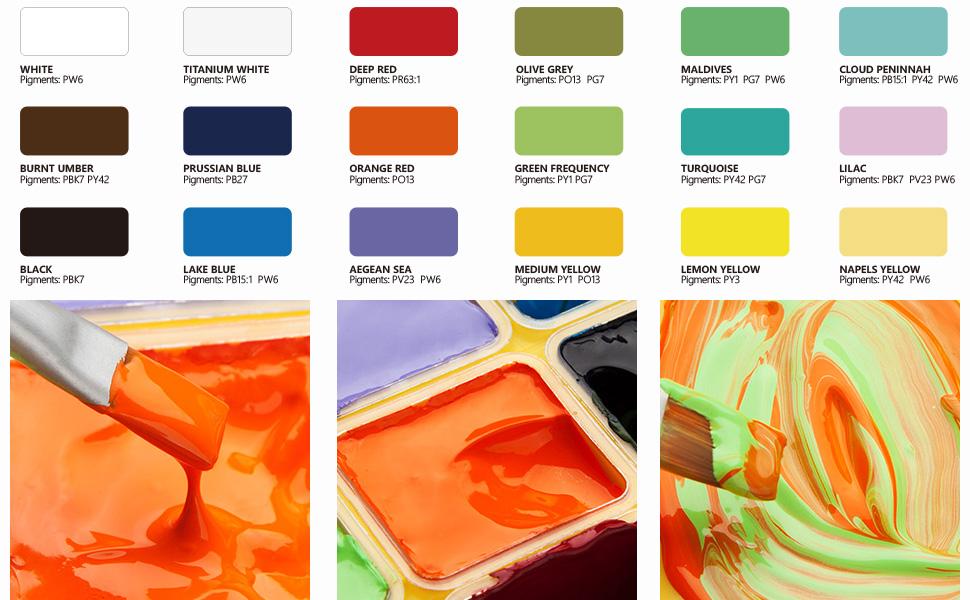 gouache paint set