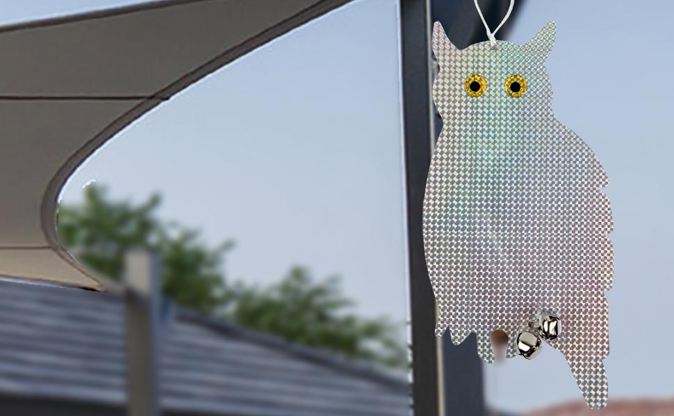 owl to scare away birds