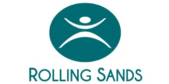 Rolling Sands logo.  A drinkware company offering BPA-free, USA-made cups, tumblers, water bottles.