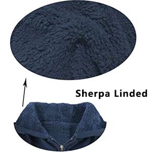 mens sherpa linded hoodie