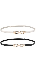women skinny waist leather belt