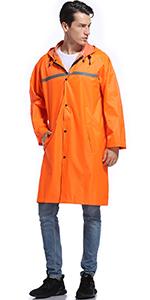 mens rain jacket long