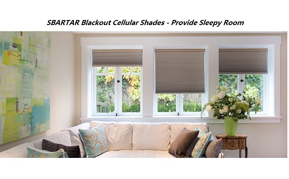 blue cellular shades