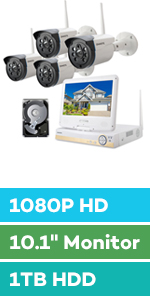 wireless security camera system 8 cameras channel 8ch outdoor with monitor hard drive night vision
