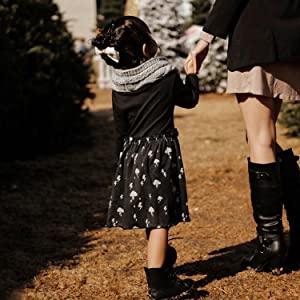 babysoy twirl dress, girl winter dress