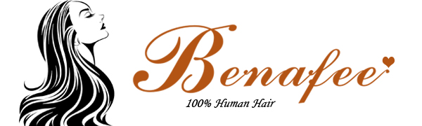 Benafee human hair lace front bob wig middle part