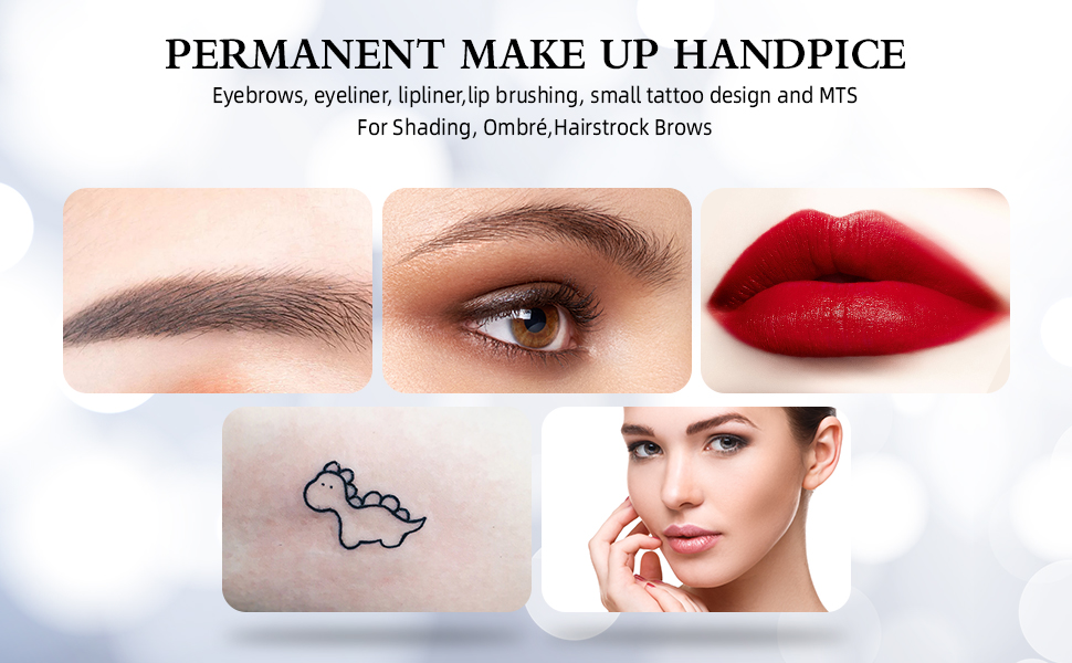 Multifuction: Eyebrows, eyeliner, lipliner,lip brushing,small tattoo design and MTS