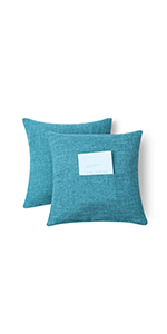 decorative sofa cushions agua color decorative pillows for bed light green blue pillow cover 2 pack