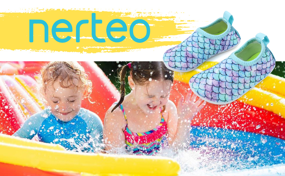 Nerteo toddler aqua shoes for water sports