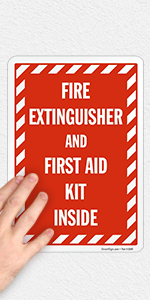 Fire Extinguisher and First Aid Kit Inside