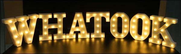 led letter light