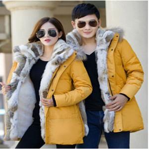 yellow down coats