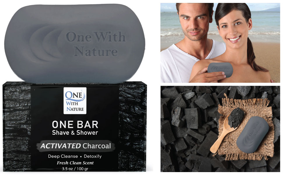 activated charcoal soap natural men shave shower shampoo camping avocado neem argan olive coconut