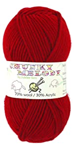 chunky weight cotton bamboo blend yarn