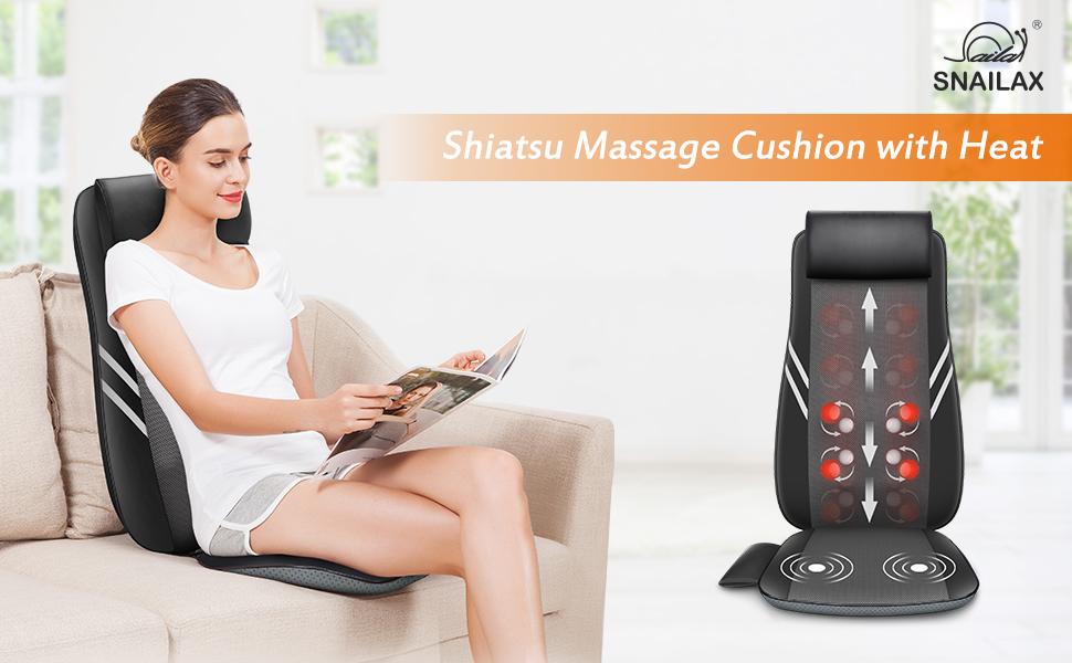 Full Back Massager with Heat-Shiatsu Massage Chair Pad