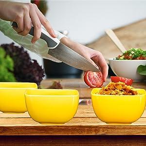 Porcelain Fluted Bowl Set - 26 Ounce for Cereal, Soup - Set of 6