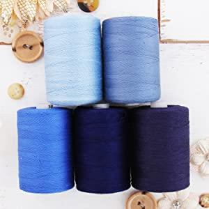 cotton thread blue