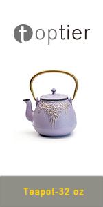 cast iron teapot purple