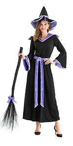 Hsctek Halloween Witch Costume for Women