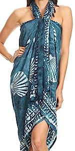 sarong fringe summer tropical travel versatile skirt dress cover-up knot batik thai floral print