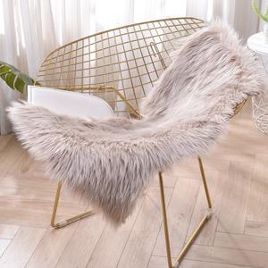 Sheepskin Rug Faux Fur Rug Super Soft Fluffy Chair Cover