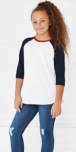 boy girl youth kid baseball raglan shirt