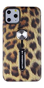 Leopard Print iPhone 11 Pro Max Case  with Finger Grip