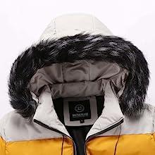 Women's Winter Puffer Coat Removable Fur Trim Hooded Thicken Warm Jacket