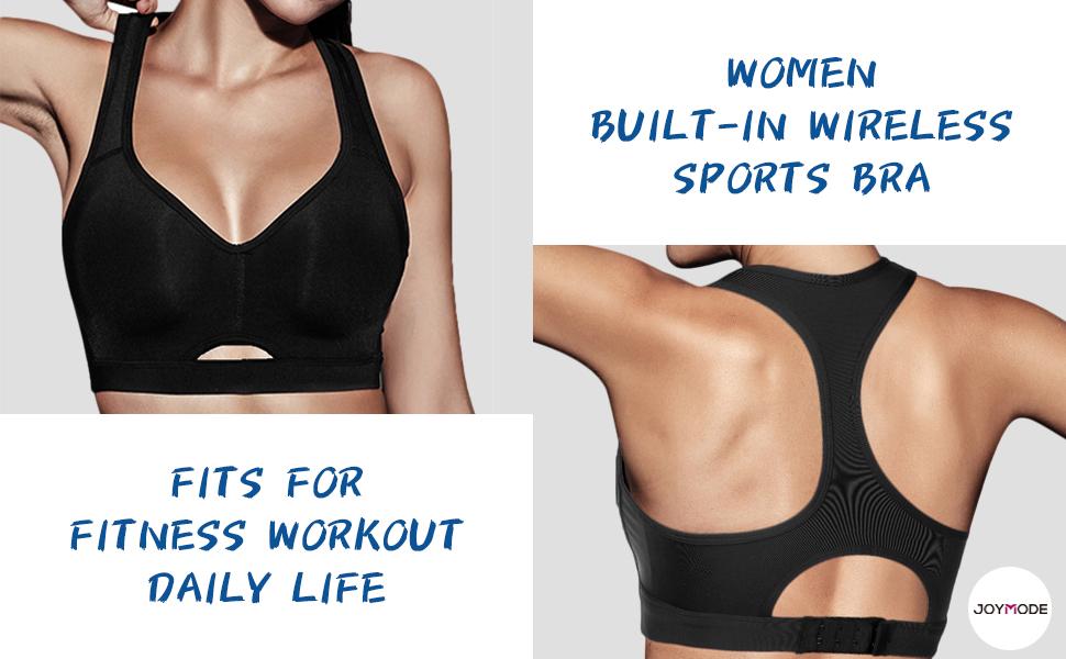 womens buitl in wireless sports bra