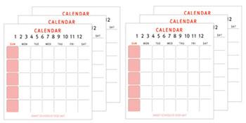 12 pcs calendar
