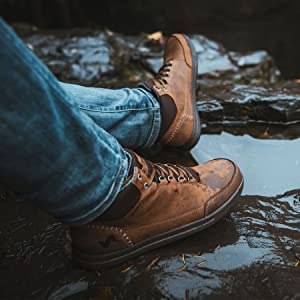 waterproof, leather, weather, stream, outdoors