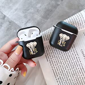 Black soft airpods case