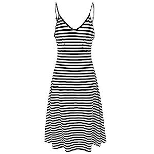 Classic Straight Stripe.  Hem Length 3/4 (above angles & below knee)