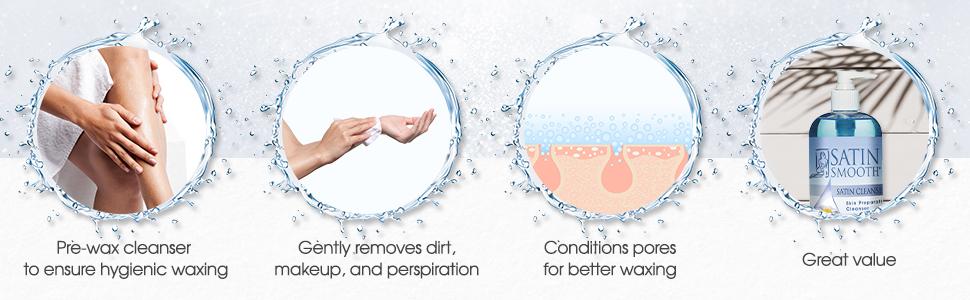 Satin Smooth Satin Cleanser Skin Preparation Cleanser, 16 oz