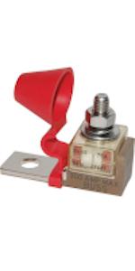 "Bay Marine Supply Single MRBF Fuse Mount Holder Block 5/16"" M8 5191 Compact Automotive Battery Fuse"