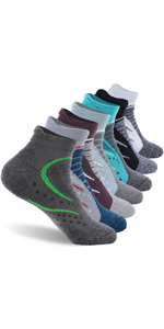 Men's Cushion Ankle Low Cut Athletic Hiking Socks