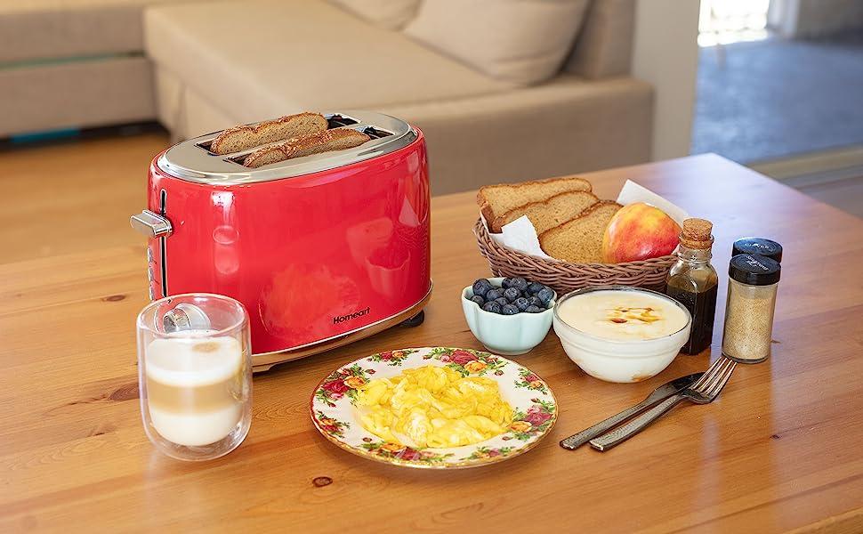 white 4 piece toaster