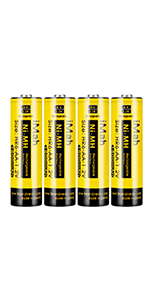 4-Pack iMah HR6 1.2V 1800mAh AA Rechargeable Batteries