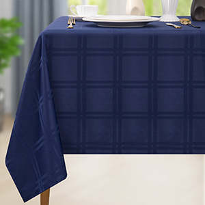 Rectangle Table Cloth Spill-Proof Waterproof Microfiber Tablecloth Decorative for Outdoor Indoor Use