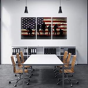 colombian american flag canvas,multi canvas wall art american flag,office wall decor