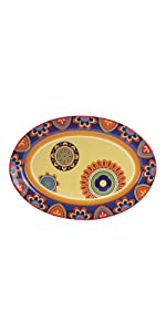 tunisian oval platter 16 inch