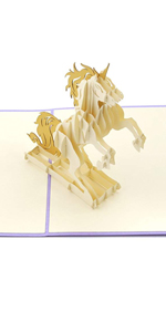 PopLife Magical Unicorn Pop Up Valentine's Day Card - 3D Anniversary Pop Up, Mother's Day Gift Happy