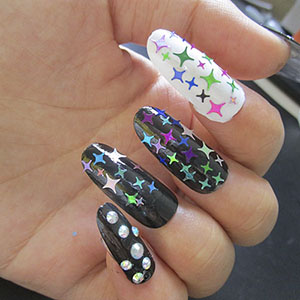 acrylic nail art,nail glitter shapes,holographic nail glitter flakes,nail tips decor,nail art tips